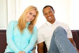 Tiger Woods and Lindsay Vonn-Photo